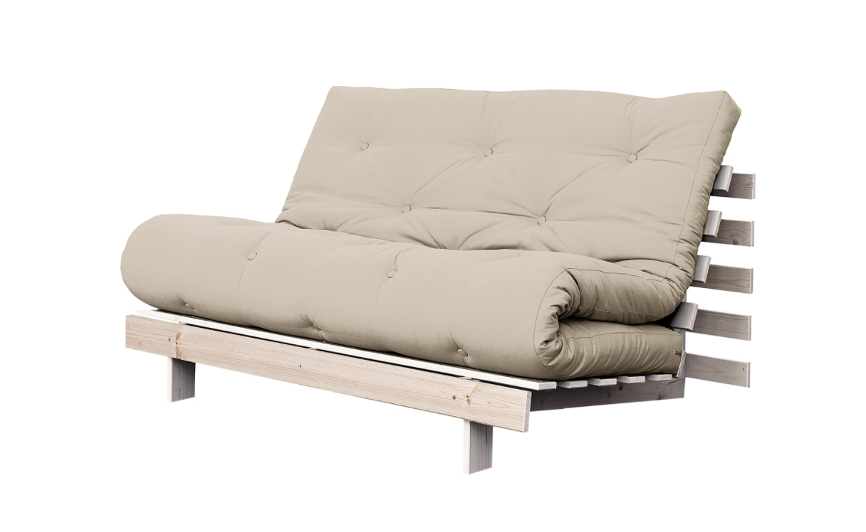 Beiges Schlafsofa Roots 140 I