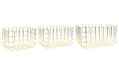 3-tlg. Korb-Set Coury aus Metall-Draht