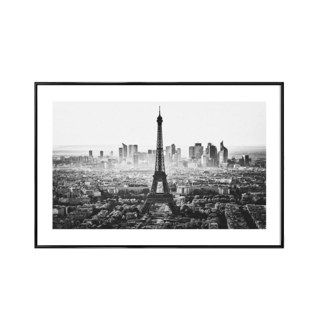 Paris Skyline -Bild mit Kunststoffrahmen 60×90 cm