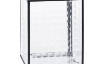 JENA Laterne schwarzem Metall und Glas, tailliert