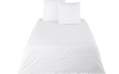 SO CHARME Bettwäschegarnitur aus Baumwollperkal, weiß, bestickt und mit Häkelborte