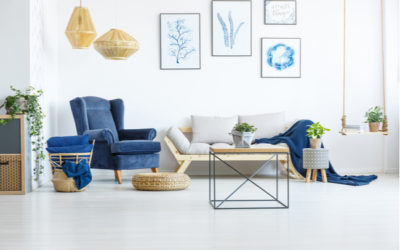 Schön wohnen und einrichten mit Blau