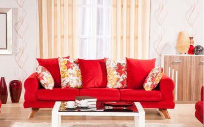 Schön Wohnen und Einrichten mit Rot