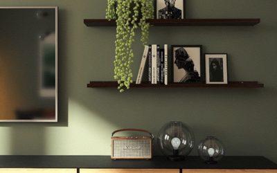 Stilvolle TV Wand im Retro-Modern Style