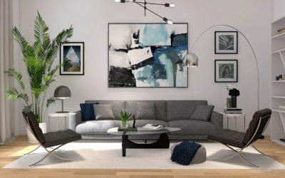 Hochwertig und Clean – Modernes Wohnzimmer mit Retro