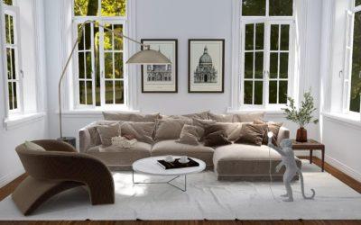 Gemütliches Altbau-Wohnzimmer – Modern und Boho